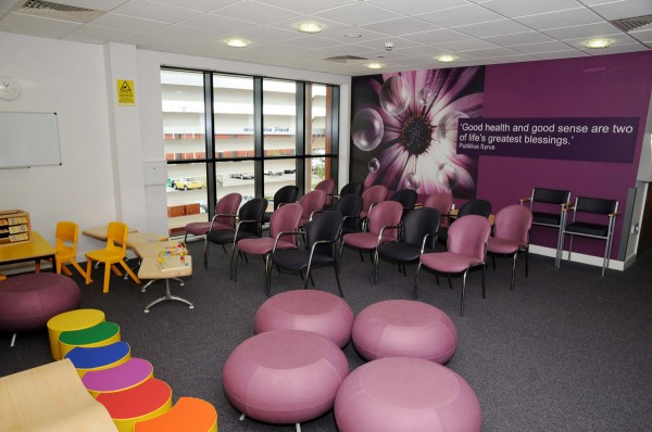 Waiting area at the Primary Care Centre