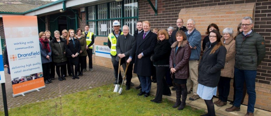 Soil cutting marks the start of work at Valley Medical Centre