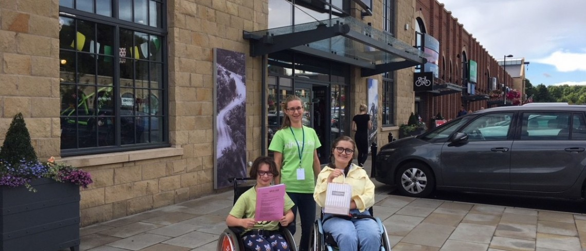 Whizz-Kidz visit Fox Valley for accessibility audit