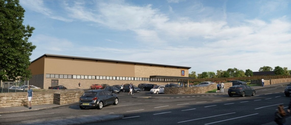 Site clearance underway on site for Huddersfield's new Aldi