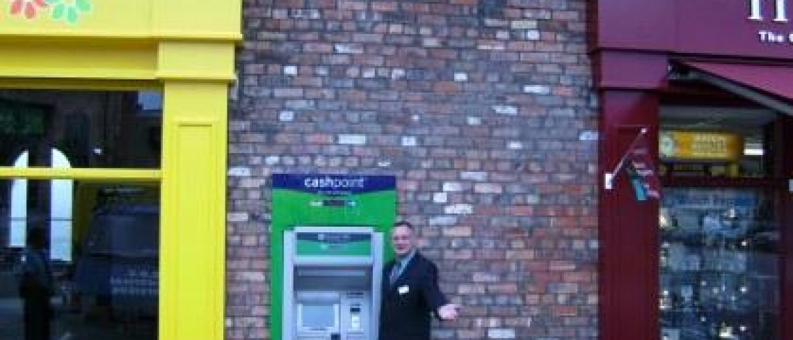 Cash machine installed at Marshall's Yard