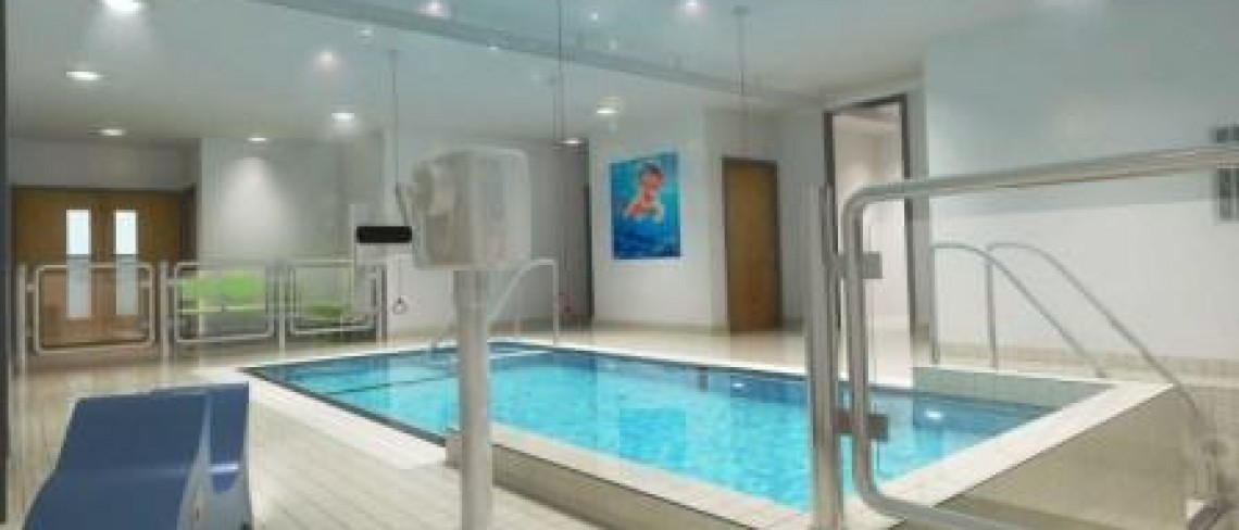 work starts on new childrens hospital hydrotherapy pool