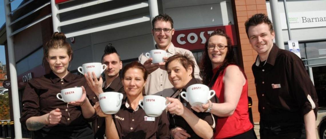 Costa Coffee Opens New Coffee Shop At Tunstalls Alexandra