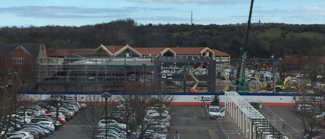 Work progressing well on the new town centre retail site