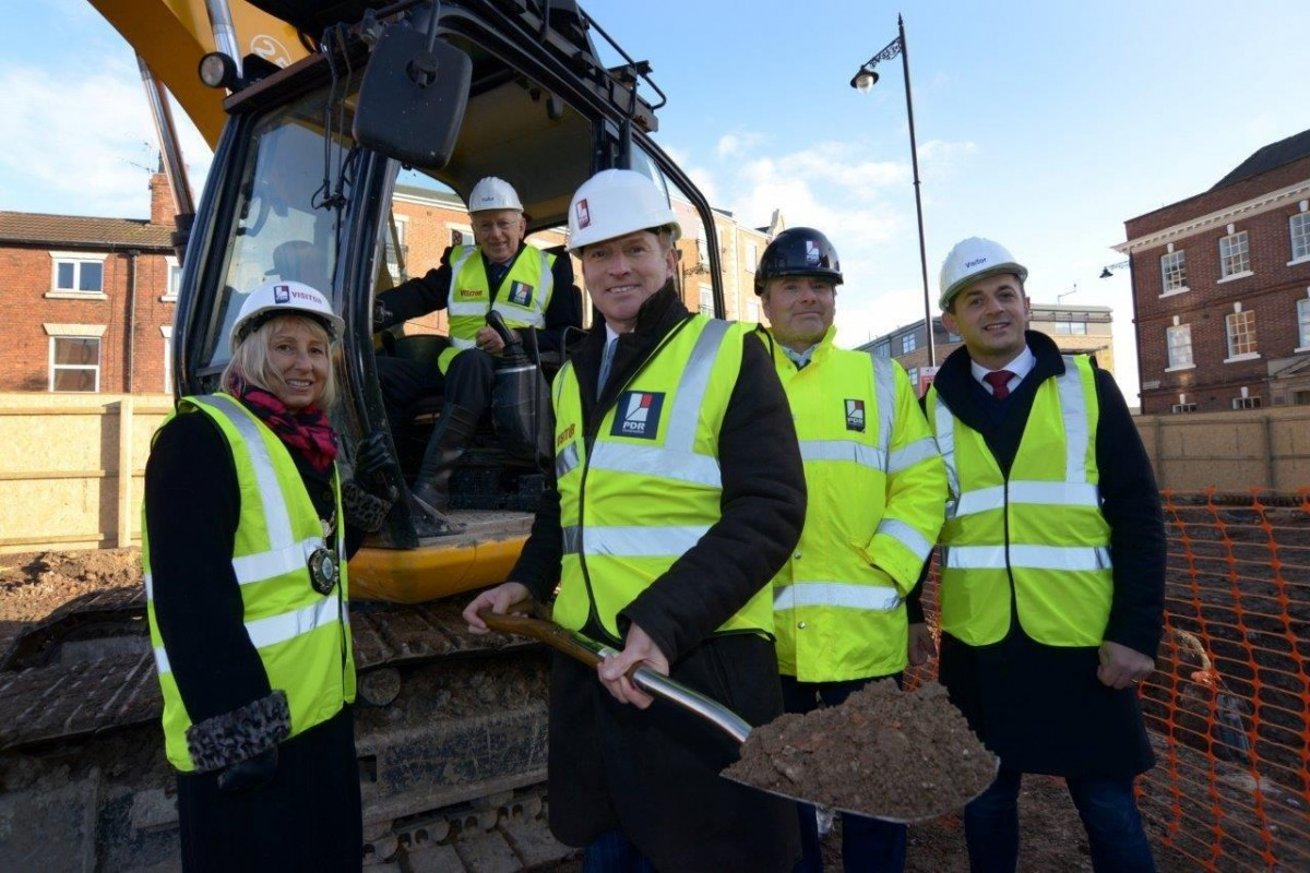 Work gets underway on Gainsborough town centre development