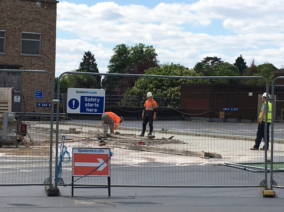 Work re-starts on Stroud's new town centre redevelopment