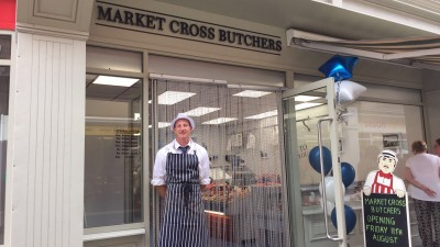 New butchers opens for busines at Market Cross