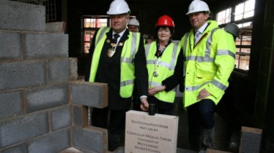 Foundation stone laid at new West Lindsey Council HQ