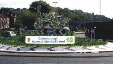 New Gainsborough roundabout to feature Marshall tractor