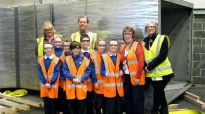 School pupils get sneak preview of Openshaw's new sculpture!