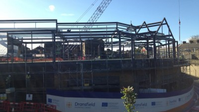 Contractors prepare to put roof in place at Penistone�s Gateway project