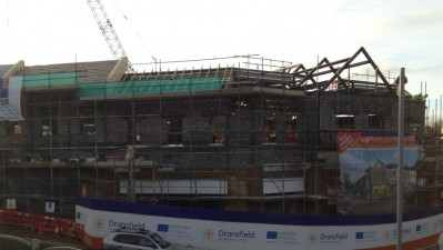 Roof in place at Penistone's Gateway project