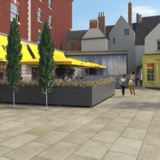 Ground breaking ceremony to mark the start of work at Gainsborough's new hotel