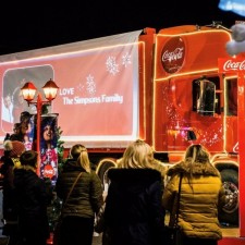 Coca Cola Truck visits DPL centres in the run up to Christmas