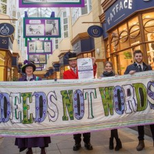 Arcade display pays tribute to Suffragettes
