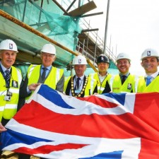 Topping out ceremony marks milestone in town centre project