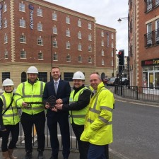 Key handover marks completion of building work at town centre hotel