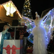 Market Cross lights up for Christmas