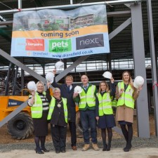 Topping out at Morpeth's new £7 million retail development