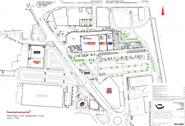 Site plan for Alexandra Park, Tunstall, Stoke on Trent