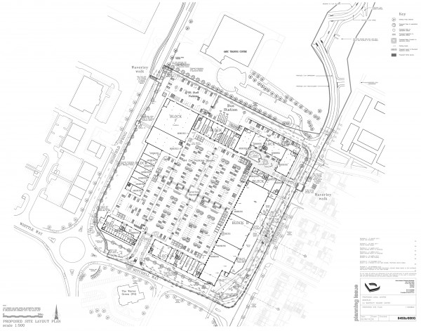 Site plan for Waverley Local Centre